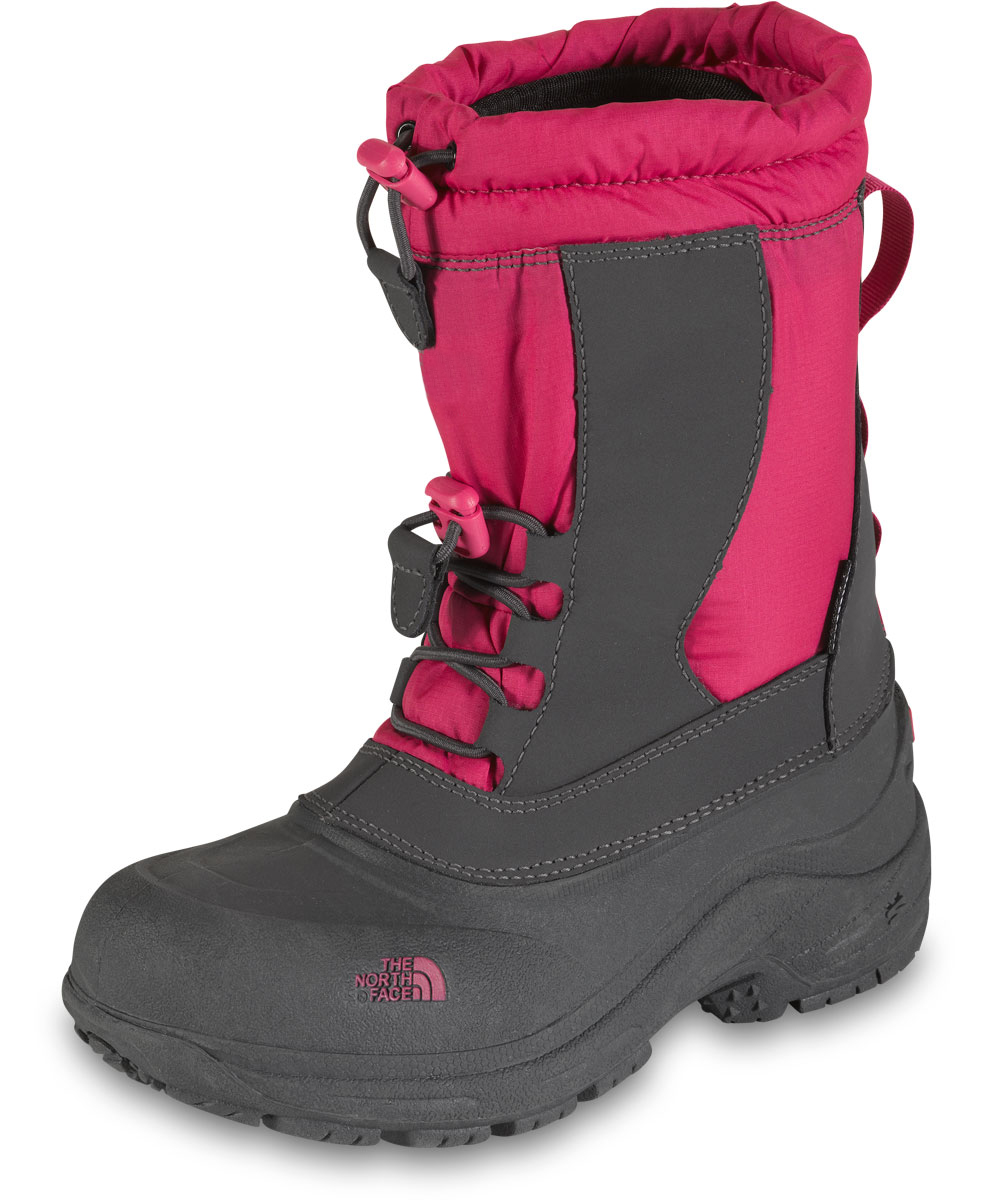 The North Face Girls Alpenglow II Boots (Youth Sizes 13 - 7) - petticoat pink/zinc gray, 10 youth