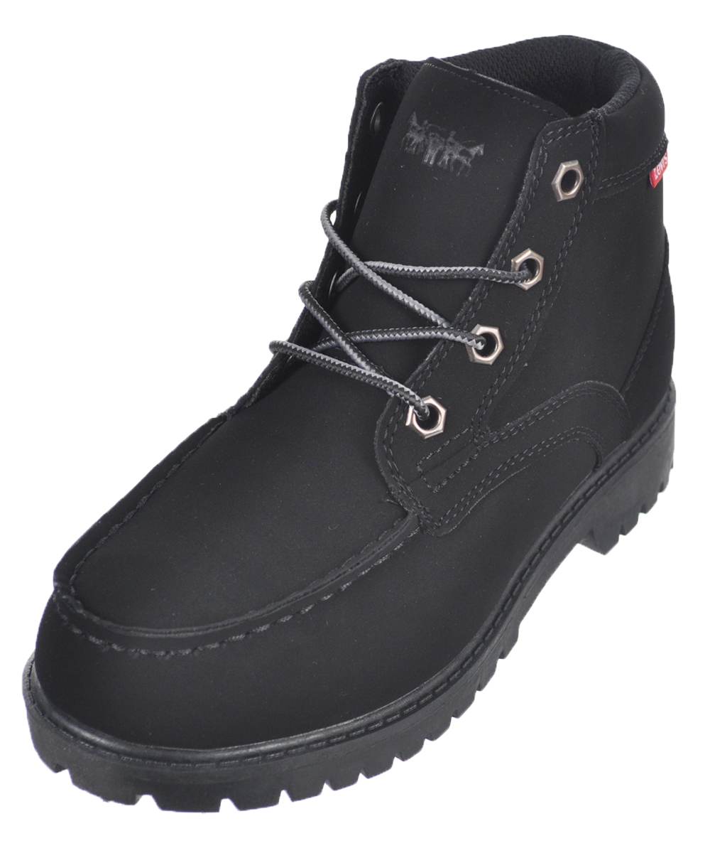 "Levi's Boys' ""Trent"" Boots (Youth Sizes 13 - 3) - black monochrome, 2 youth"