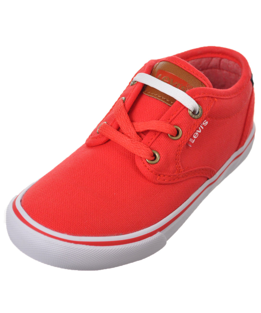 "Levi's Boys' ""Cali Core"" Low-Top Sneakers (Toddler Sizes 11 - 12) - red, 12 toddler"