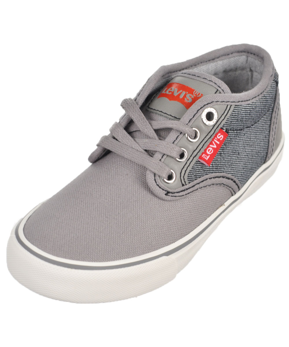 "Levi's Boys' ""Cali Denim"" Low-Top Sneakers (Toddler Sizes 11 - 12) - gray, 11 toddler"