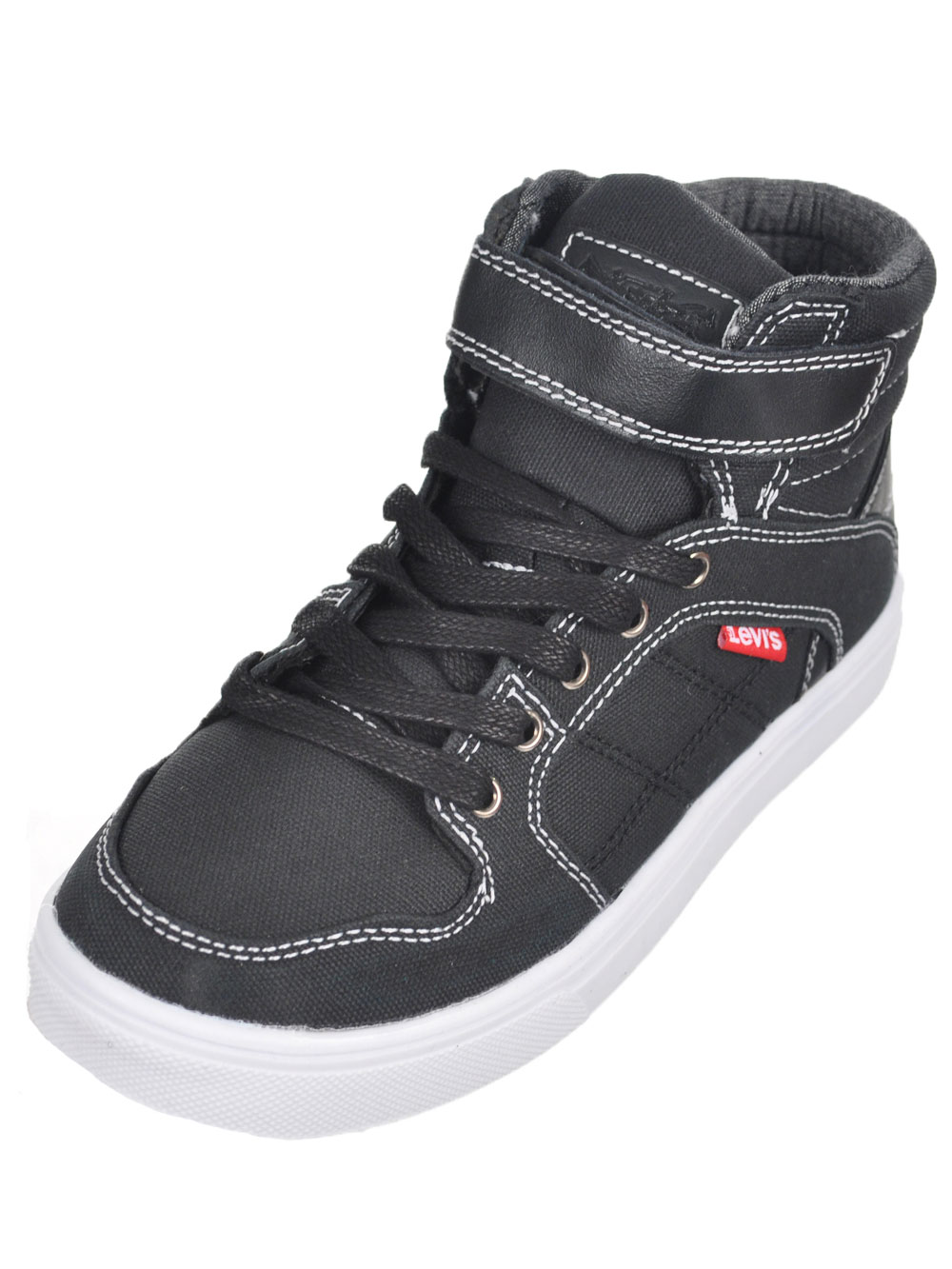 "Levi's Boys' ""Oakley"" Hi-Top Sneakers (Youth Sizes 13 - 3) - black, 13 youth"