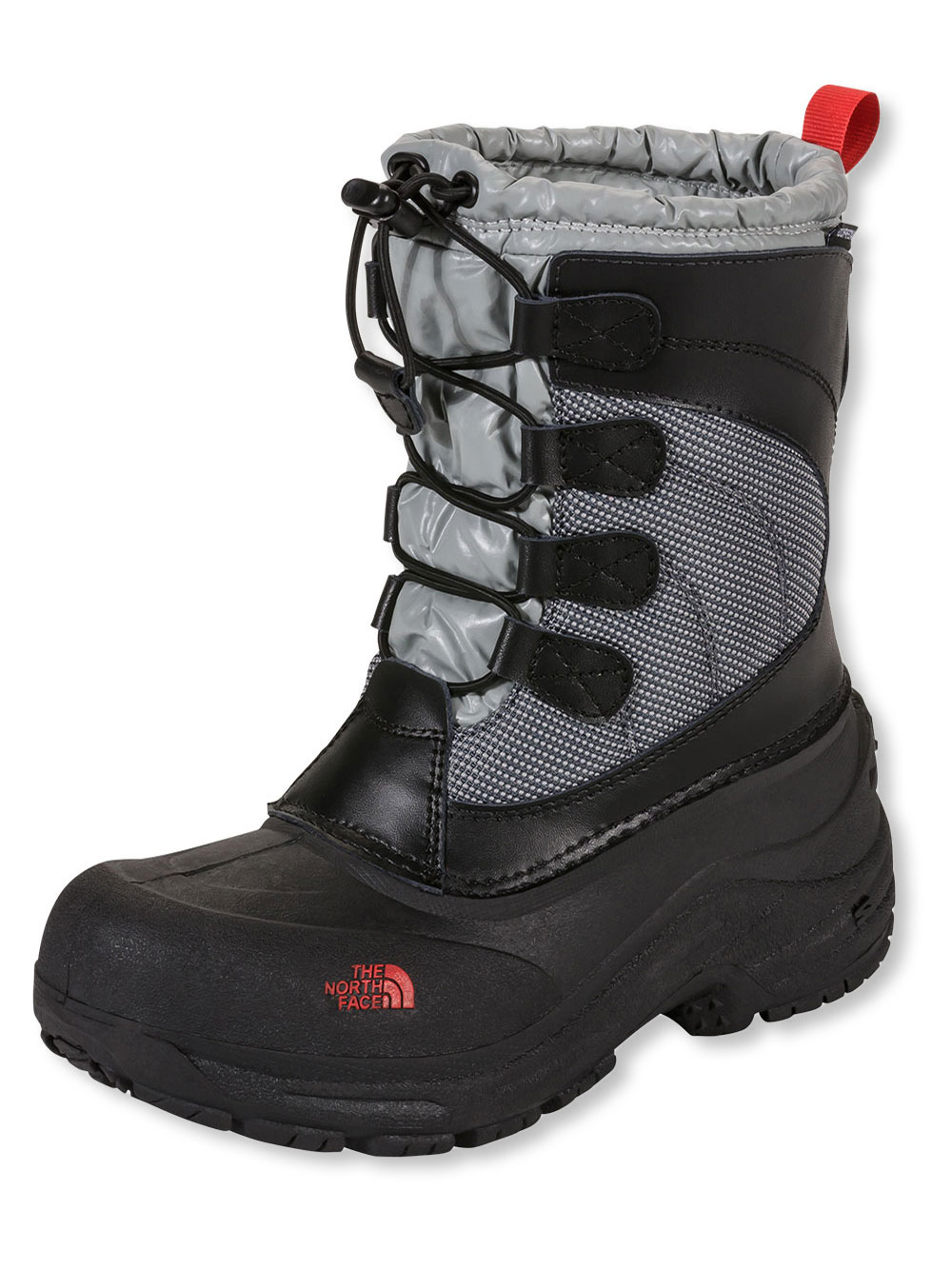 The North Face Girls Alpenglow Lace Boots (Youth Sizes 13 - 7) - black/griffin gray, 13 youth