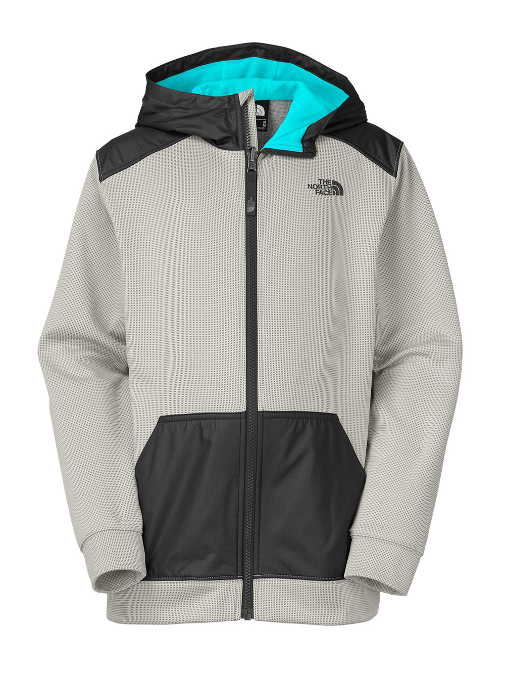 The North Face Big Boys' Ridge Track Hoodie (Sizes 8 - 20) - high rise gray, s/7-8