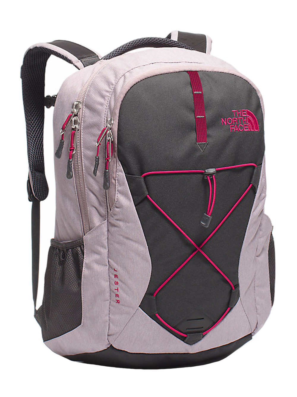 The North Face Jester Backpack - Women's - quail gray heather/cerise pink, one size