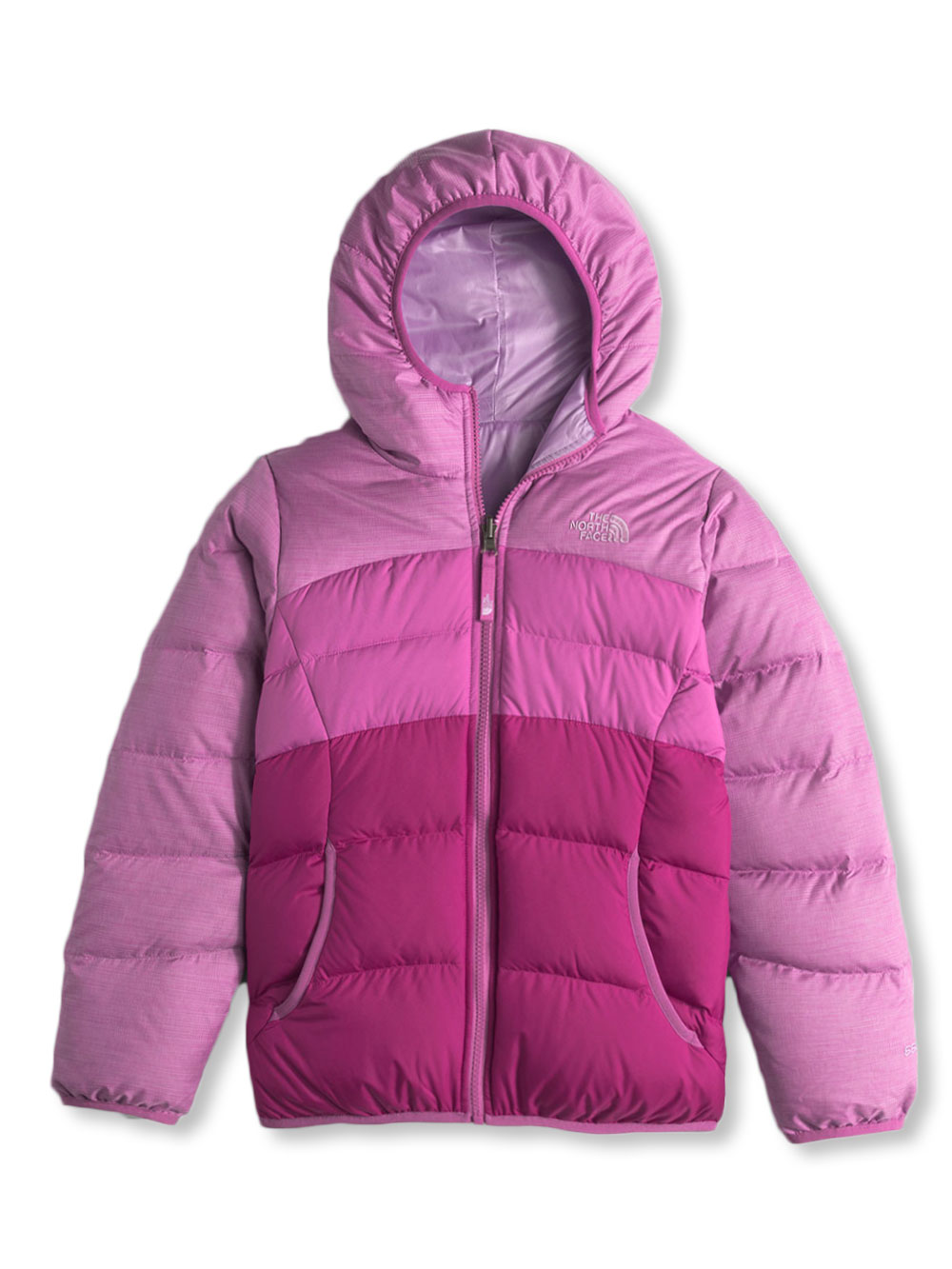 The North Face Big Girls' Reversible Moondoggy Jacket (Sizes 7 - 16) - wisteria purple heather, l/14-16