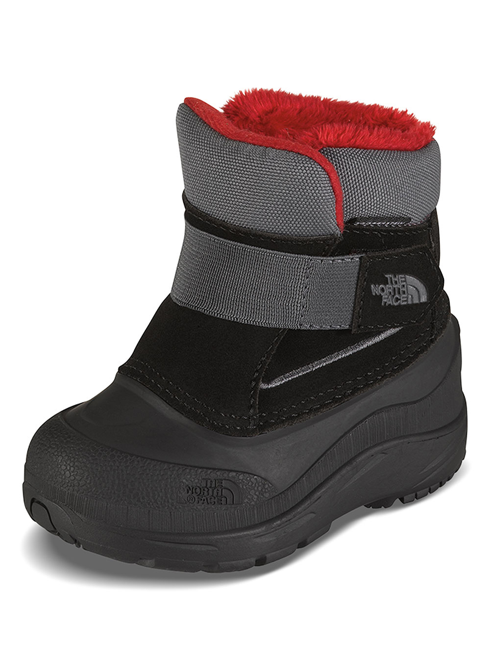The North Face Boys' Toddler Alpenglow Boots (Toddler Sizes 10 - 12) - black/zinc gray, 9 toddler