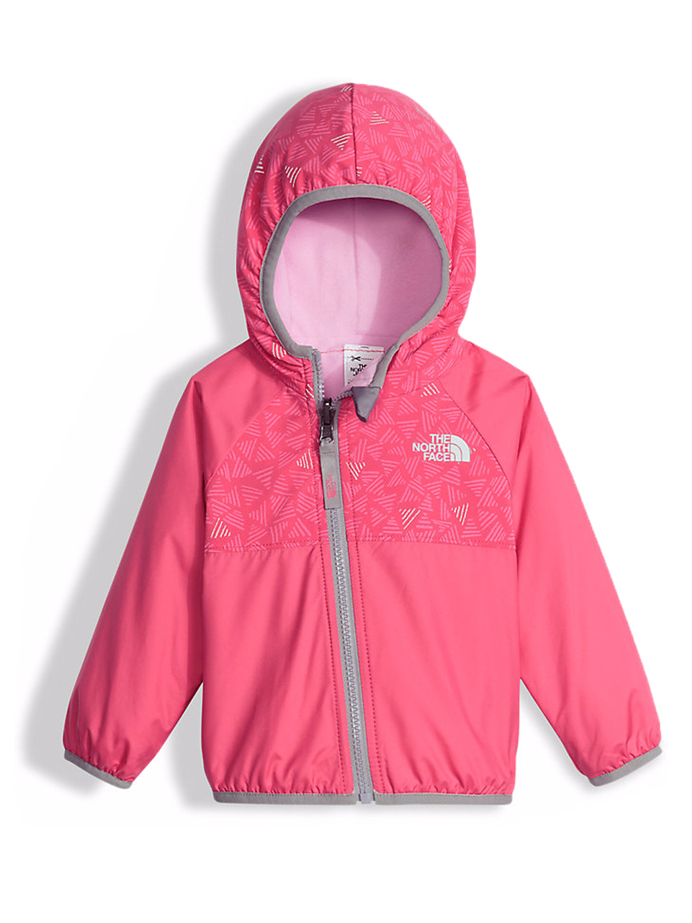 The North Face Baby Girls' Reversible Breezeway Wind Jacket - honeysuckle pink doodle reflective print, 18 - 24 months