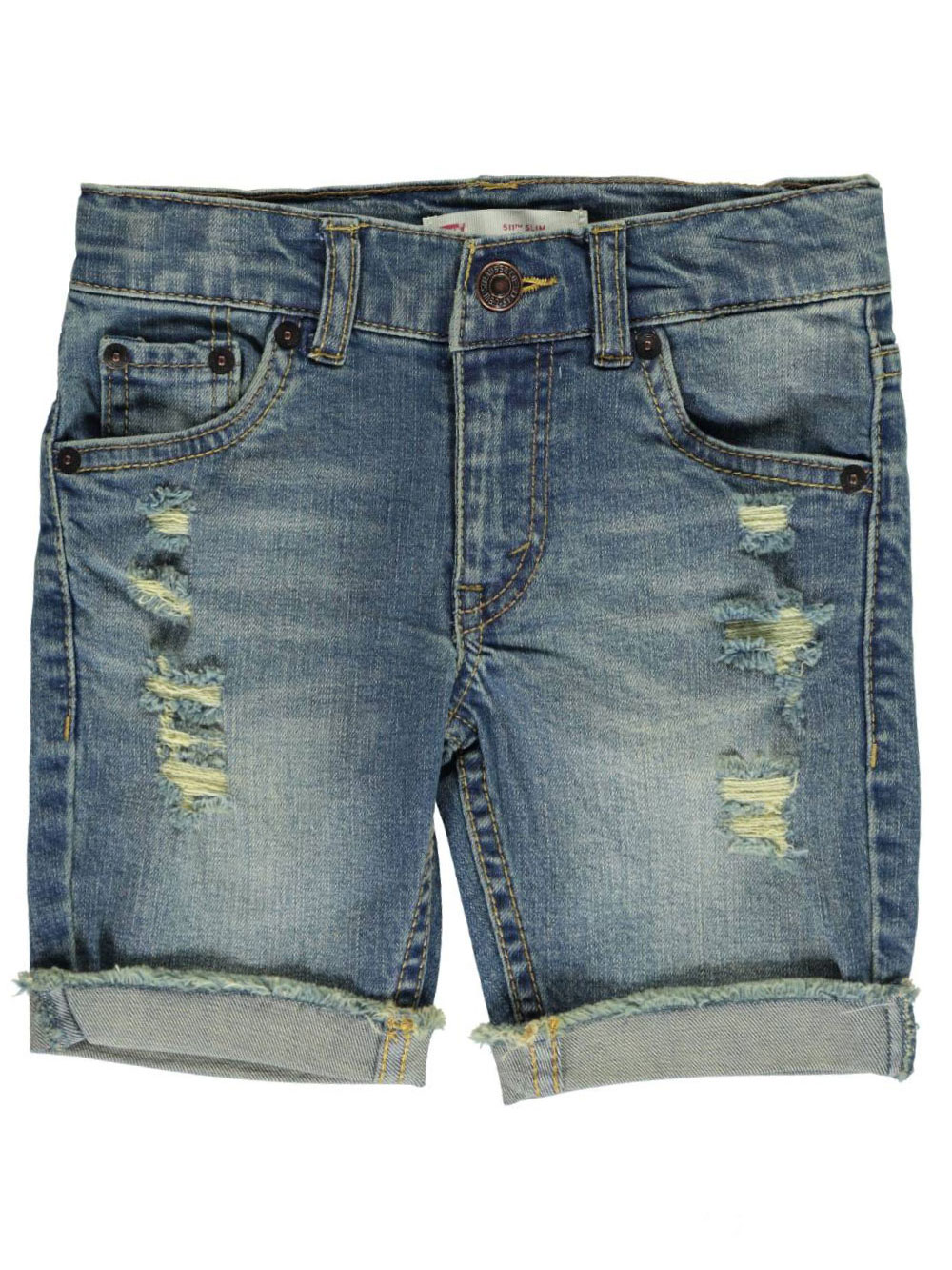 "Levi's Little Boys' 511 ""Cuffed & Frayed"" Slim Fit Shorts (Sizes 4 - 7)"