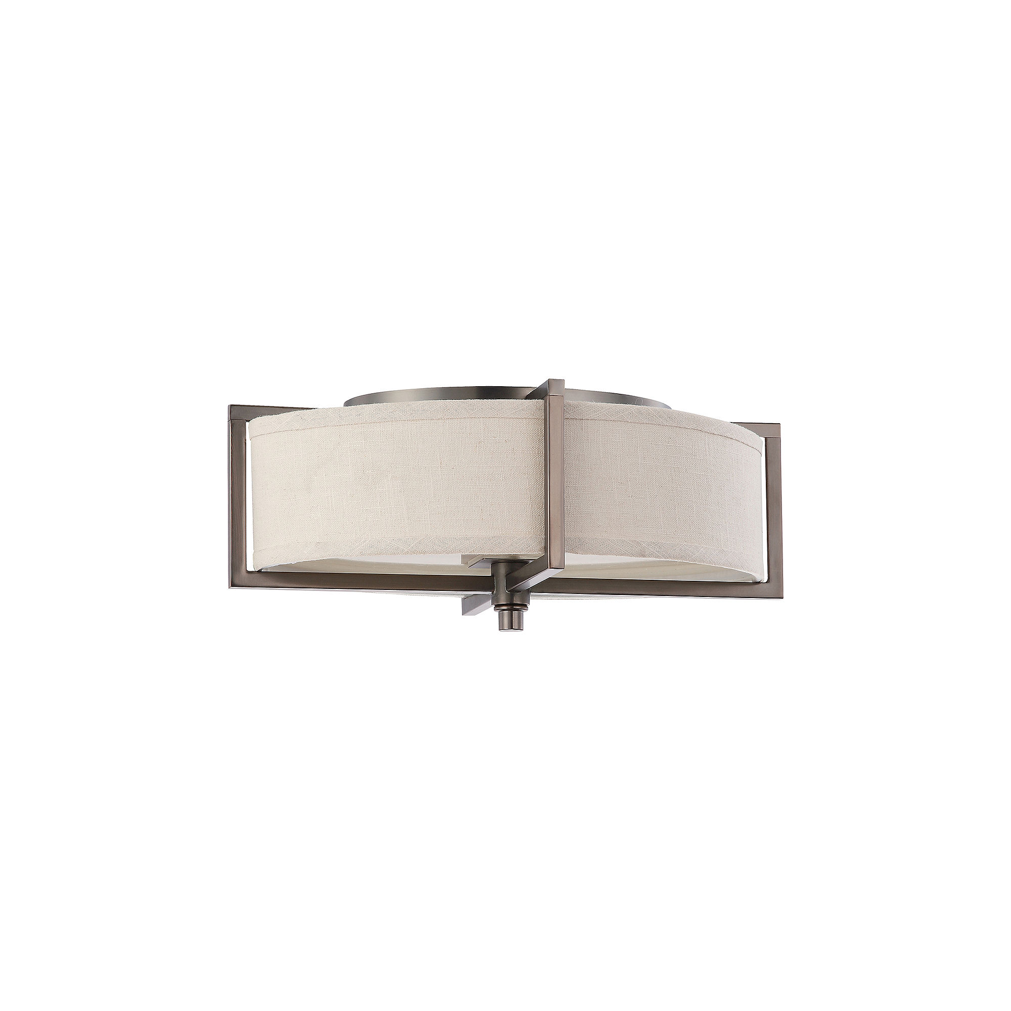 Filament Design 2-Light Hazel Bronze Flush Mount
