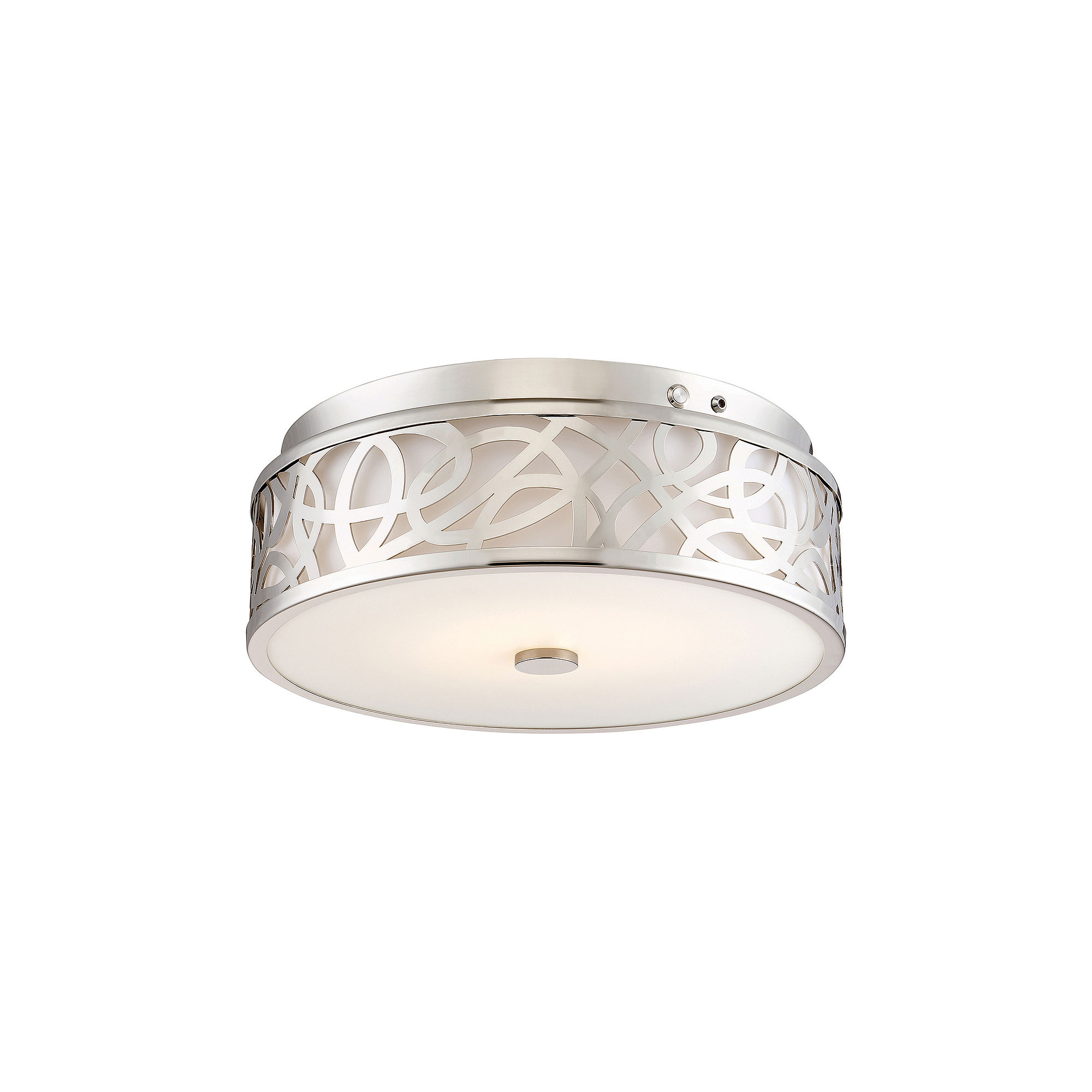 Filament Design 1-Light Brushed Nickel Led Flush Mount