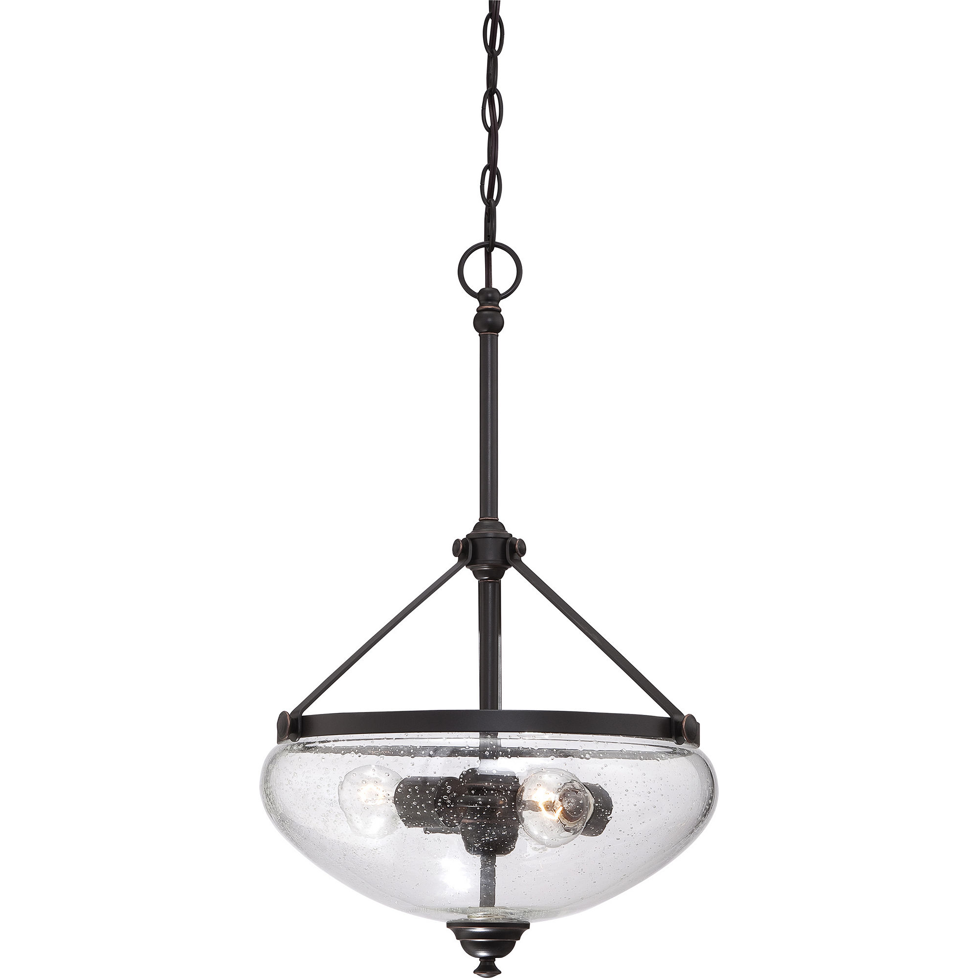 Filament Design 3-Light Sudbury Bronze Pendant Hanging Dome