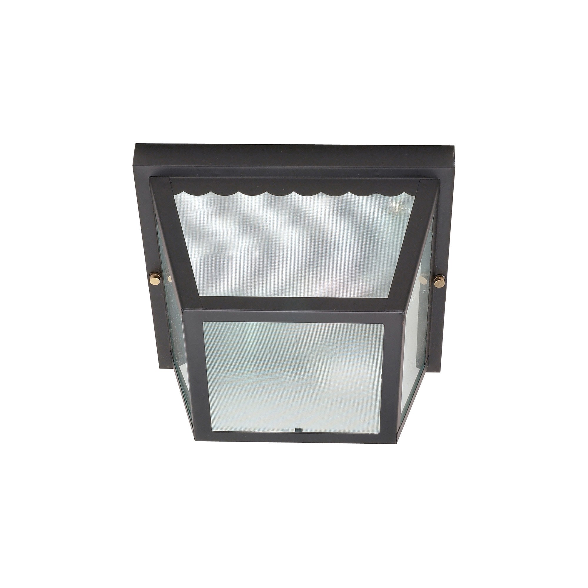 Filament Design 2-Light Black Outdoor Flush Mount