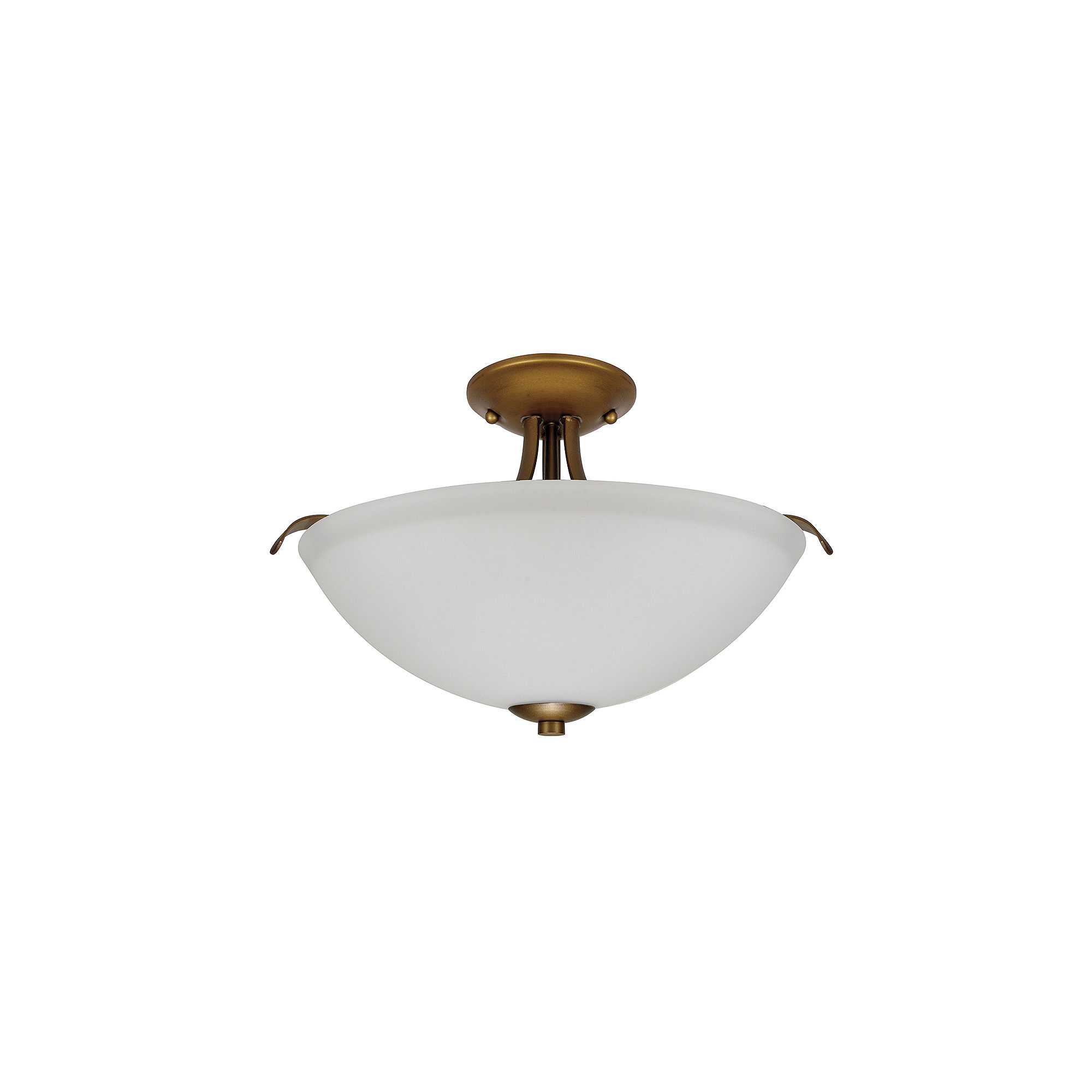 Filament Design 2-Light Natural Brass Semi-Flush Mount