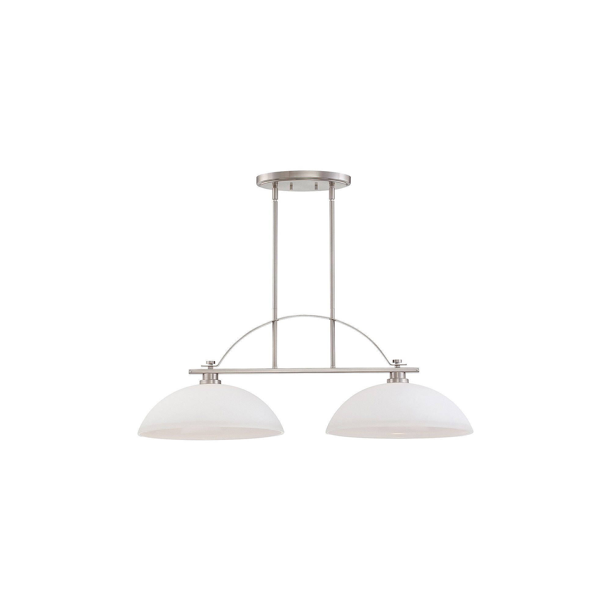 Filament Design 2-Light Brushed Nickel Pendant Island Pendant