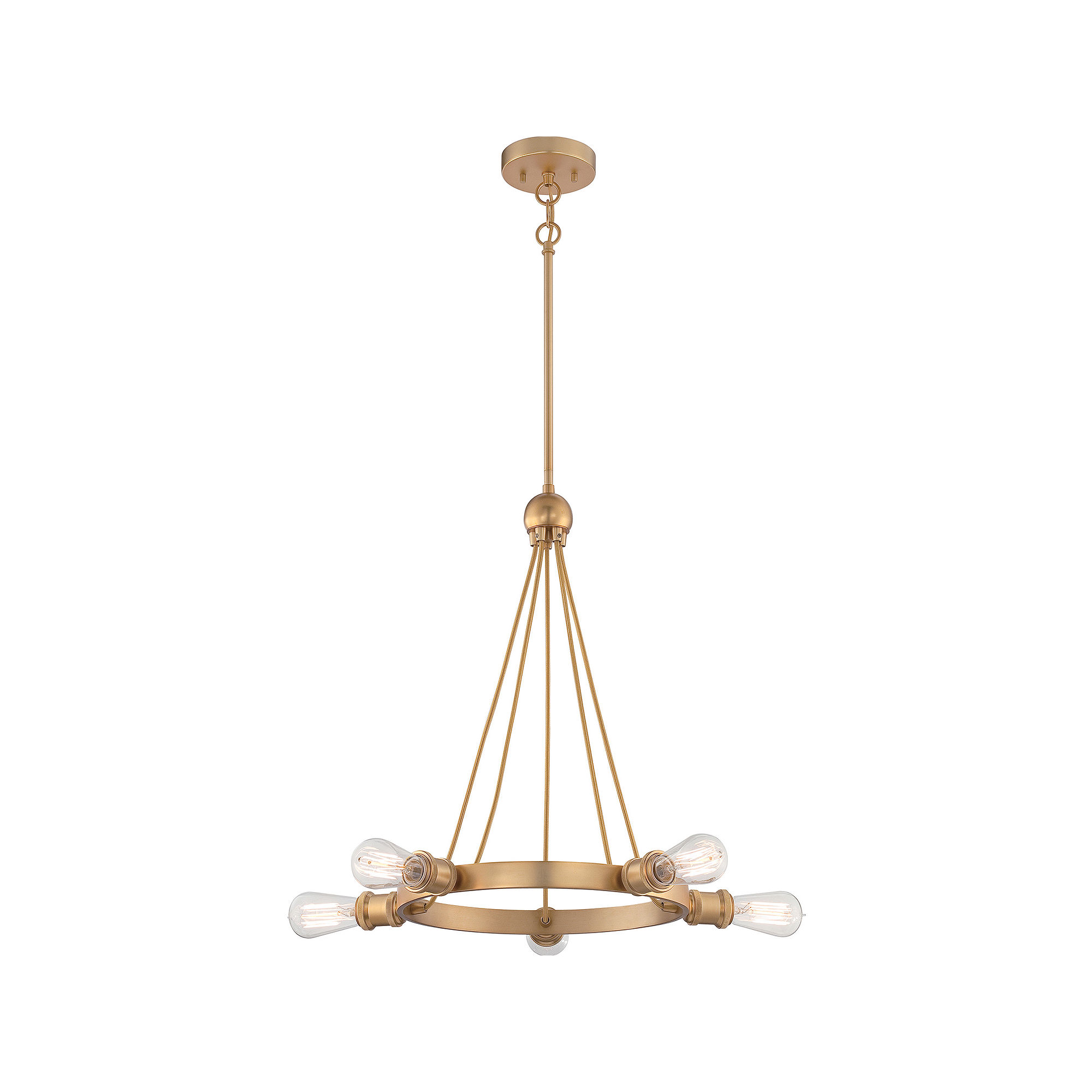 Filament Design 5-Light Natural Brass Chandelier