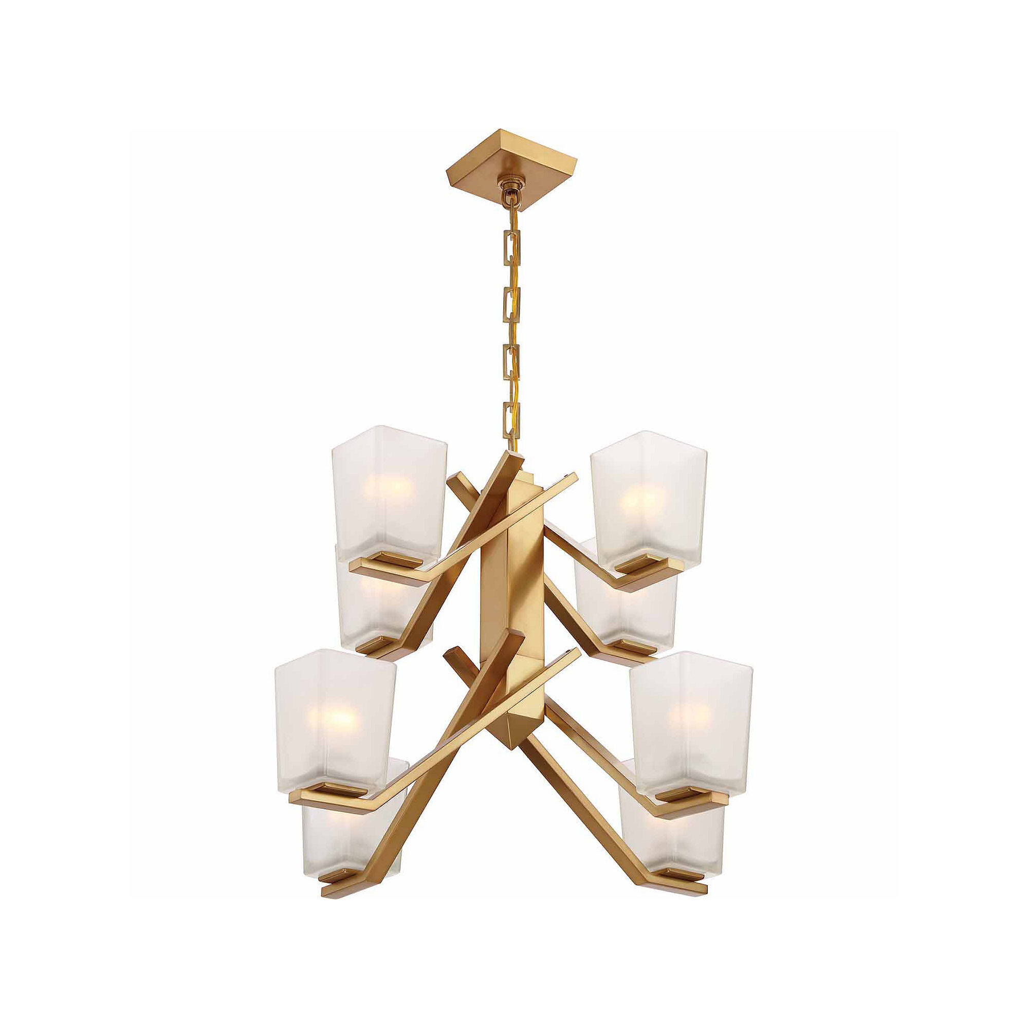 Filament Design 8-Light Vintage Brass Chandelier