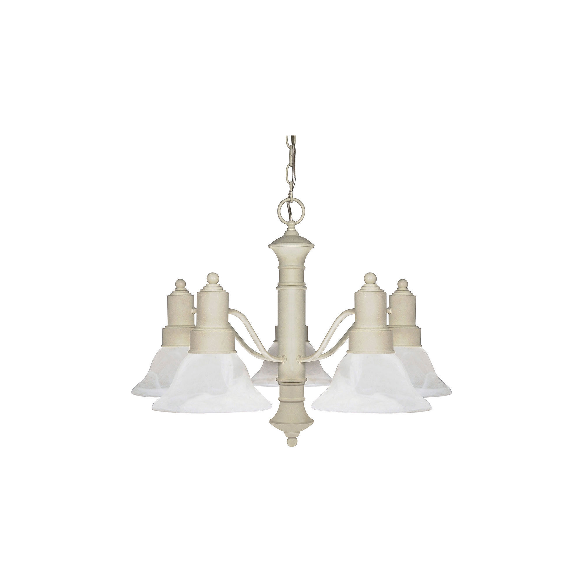 Filament Design 5-Light Textured White Chandelier
