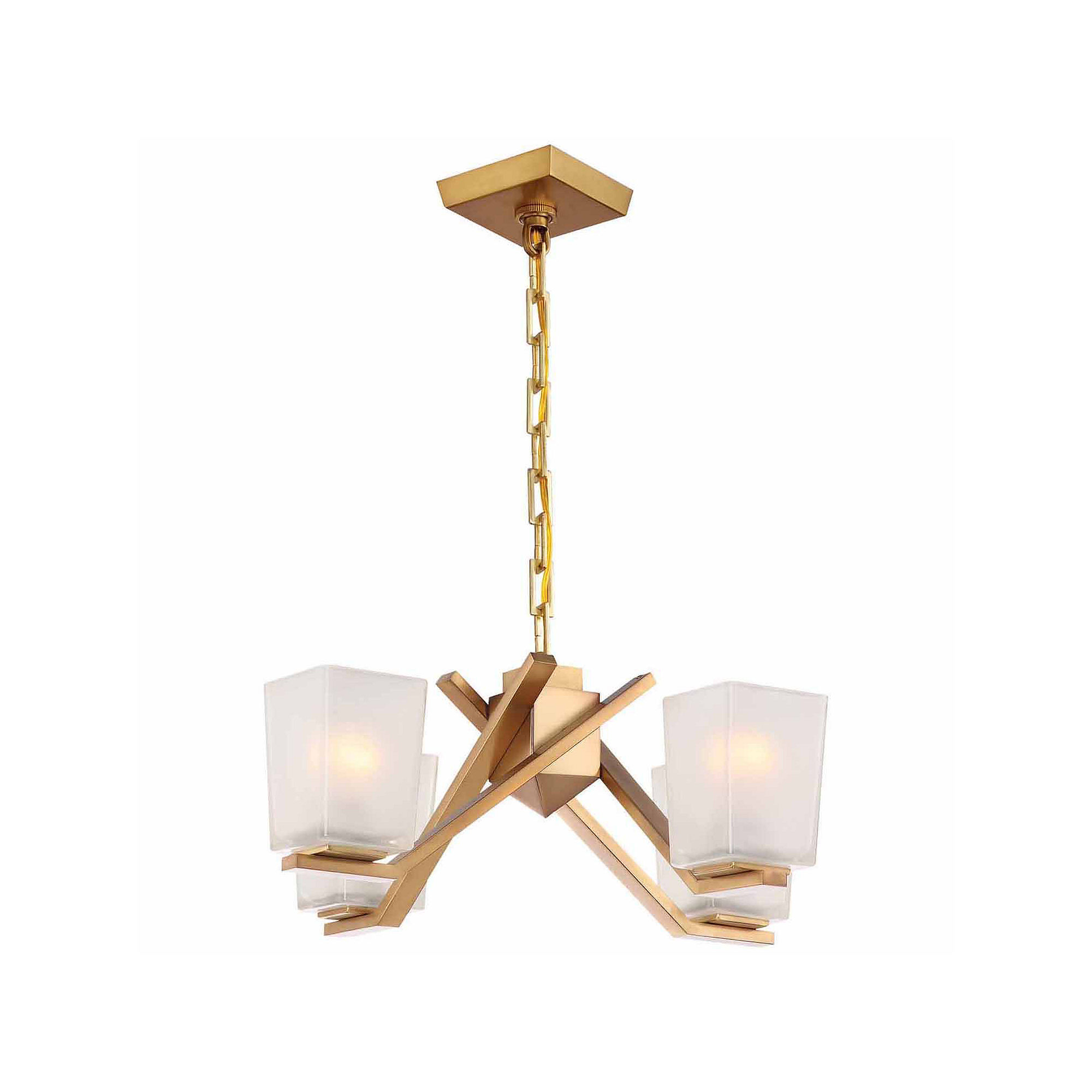 Filament Design 4-Light Vintage Brass Chandelier