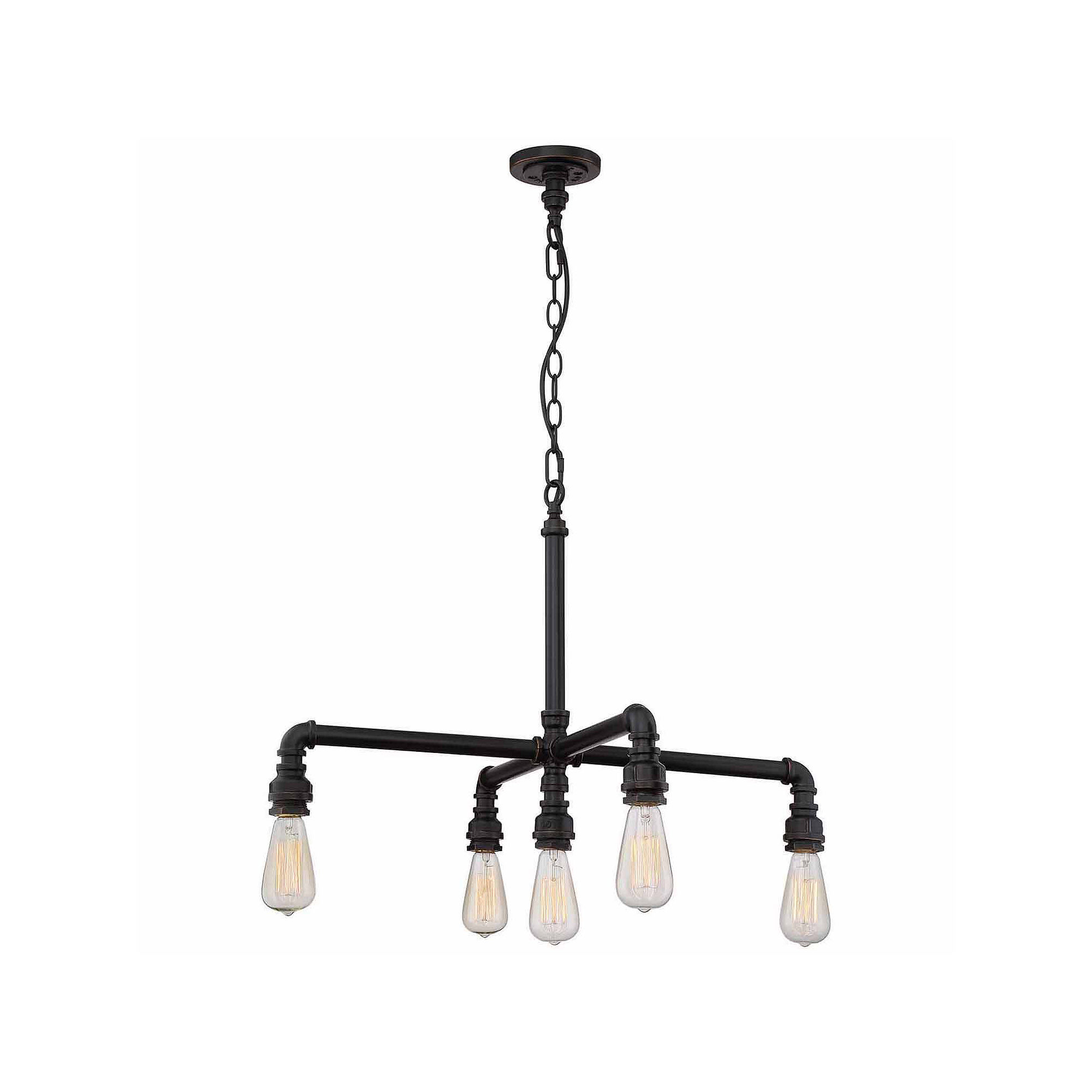 Filament Design 5-Light Industrial Bronze Chandelier