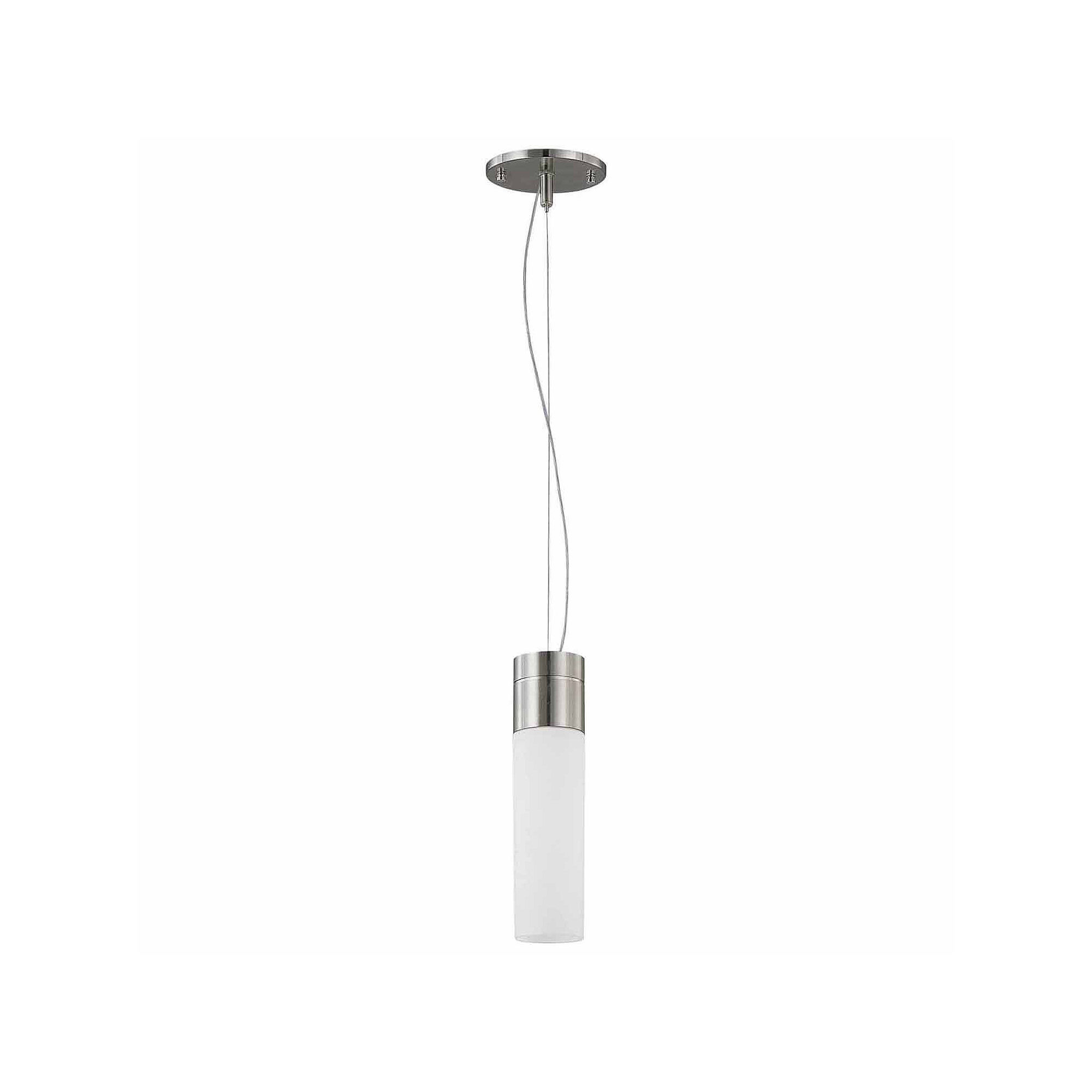 Filament Design 1-Light Brushed Nickel Pendant Tube Pendant