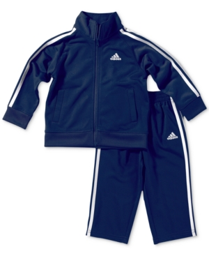 adidas 2-Pc. Tricot Jacket & Pants Set, Baby Boys (0-24 months)