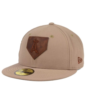 New Era Los Angeles Angels The Logo of Leather 59FIFTY Fitted Cap