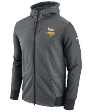 Nike Men's Minnesota Vikings Travel Full-Zip Hoodie