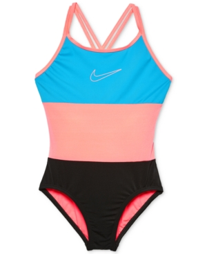 Nike 1-Pc. Colorblocked Swimsuit, Big Girls (7-16)
