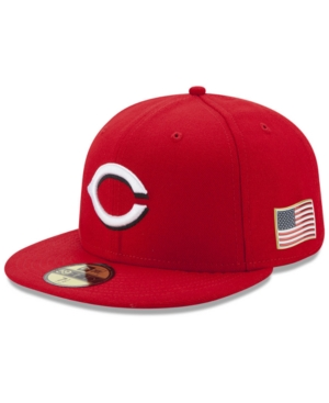 New Era Cincinnati Reds Authentic Collection 9-11 Patch 59FIFTY Fitted Cap