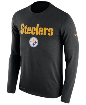 Nike Men's Pittsburgh Steelers Essential Lock Up Long Sleeve T-Shirt
