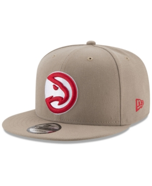 New Era Atlanta Hawks Tan Top 9FIFTY Snapback Cap