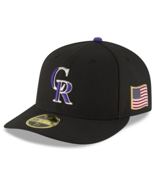 New Era Colorado Rockies Authentic Collection Low Profile 9-11 Patch 59FIFTY Fitted Cap