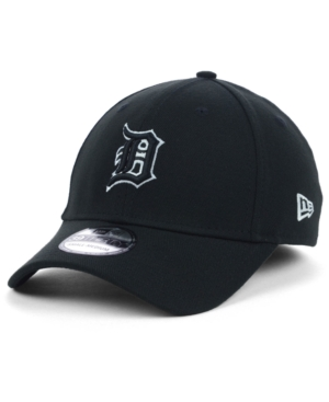 New Era Detroit Tigers Black and White Classic 39THIRTY Stretch-Fitted Cap