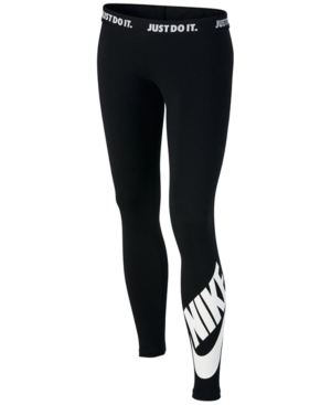 Nike Logo Graphic Leggings, Big Girls (7-16)