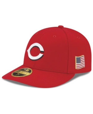 New Era Cincinnati Reds Authentic Collection Low Profile 9-11 Patch 59FIFTY Fitted Cap