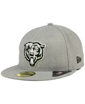 New Era Chicago Bears Heather Black White 59FIFTY Fitted Cap