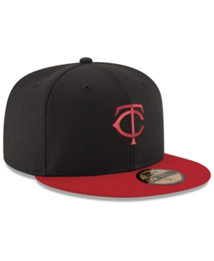 New Era Minnesota Twins Black & Red 59FIFTY Fitted Cap