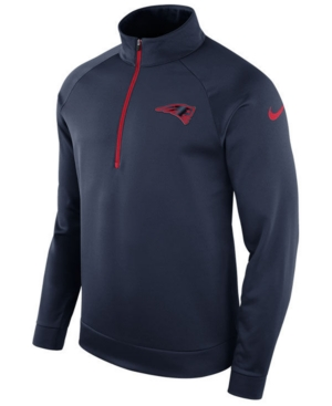 Nike Men's New England Patriots Lightweight Therma Quarter-Zip Pullover