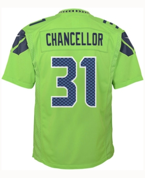 Nike Kam Chancellor Seattle Seahawks Color Rush Jersey, Big Boys (8-20)