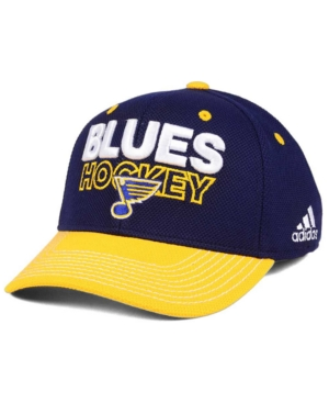 adidas St. Louis Blues Locker Room Structured Flex Cap
