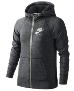 Nike Sportswear Gym Vintage Full-Zip Hoodie, Big Girls (7-16)