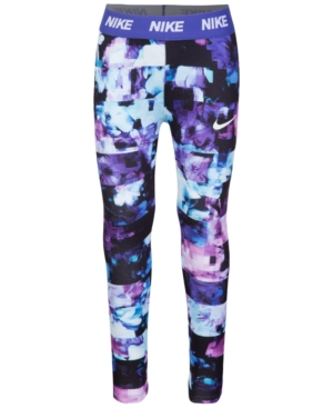 Nike Dri-fit Floral-Print Leggings, Little Girls (4-6X)