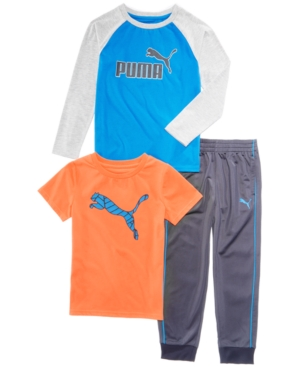 Puma 3-Pc. T-Shirts & Pants Set, Little Boys (4-7)