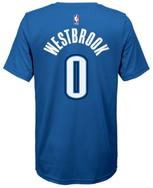 Nike Russell Westbrook Oklahoma City Thunder Icon Name & Number T-Shirt, Big Boys (8-20)