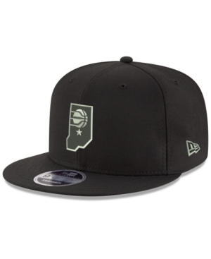 New Era Indiana Pacers Black on Shine 9FIFTY Snapback Cap